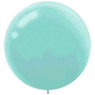 60cm Robin's Egg Blue Round Latex Balloons  - Pack of 4