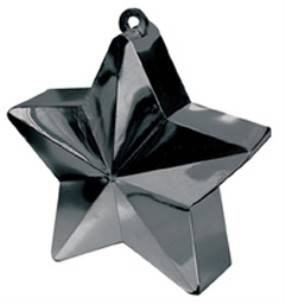 Balloon Weight Star Black  - Pack of 12
