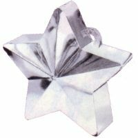 Balloon Weight Star Silver  - Pack of 12