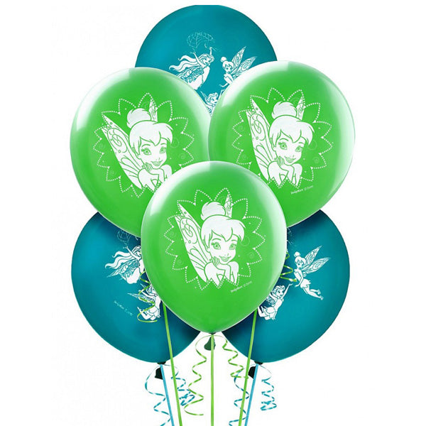 Tinker Bell Latex Balloons & Best Friends Fairies 30cm - Pack of 6