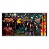 Banner Creepy Carnival Side Show - over 5 Feet Long!! 165cm x 85cm Plastic - Indoor & Outdoor Use - Each