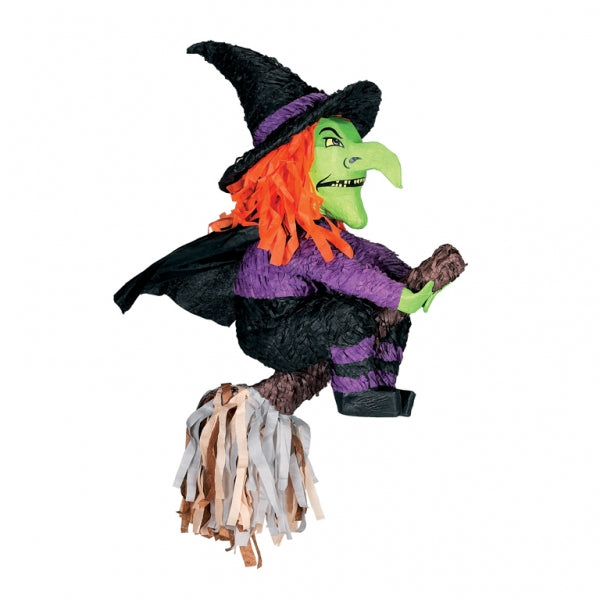 Pinata Witch & Broomstick 3D  - Each