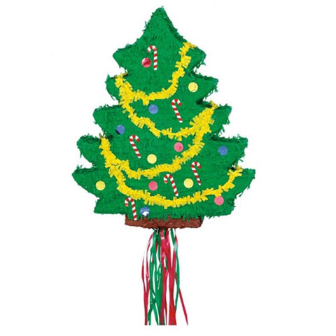 Pinata Christmas Tree Decorated Pull Sting Type 55cm x 45cm - Each