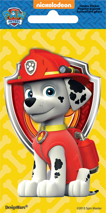 Paw Patrol Marshall Jumbo Sticker Favours