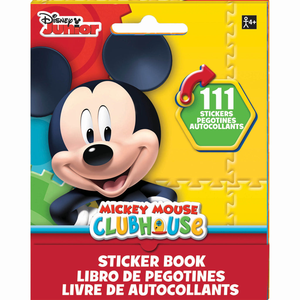 Mickey Mouse Stickers Book Favor 9 Sticker Sheets with Assorted Stickers On Each - Each