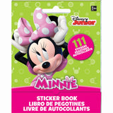 Minnie Mouse Stickers Book Favor 9 Sticker Sheets with Assorted Stickers On Each - Each