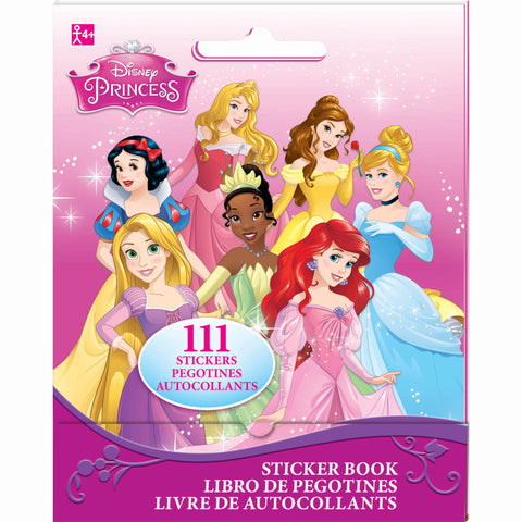 Disney Princesses Stickers Book Favor 9 Sticker Sheets with Assorted Stickers On Each - Each