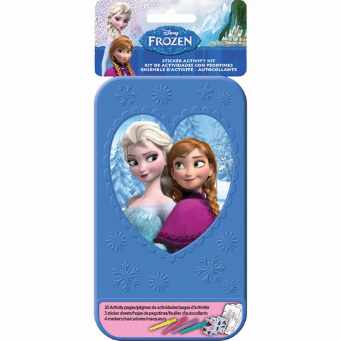 Frozen Sticker Activity Kit Plastic Case Includes 20 Activity Pages, 3 x Sticker Sheets & 4 x Colouring Pens - Each