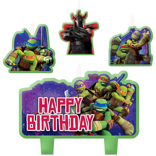 Teenage Mutant Ninja Turtles Candles Mini Moulded Set. - Pack of 4