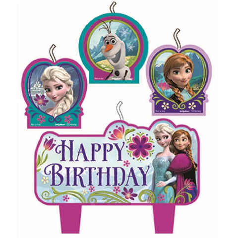 Frozen Candles Happy Birthday Mini Moulded Set - Pack of 4