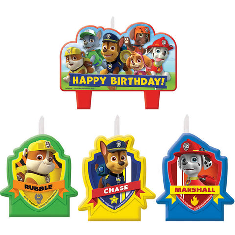 Paw Patrol Happy Birthday Candle Set