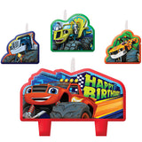 Blaze & The Monster Machines Candle Set Happy Birthday Mini Moulded Set - Pack of 4