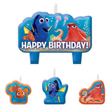 Finding Dory Mini Candles Set Happy Birthday  - Pack of 4