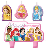 Princess Dream Big Candle Set Happy Birthday Mini Moulded Set - Pack of 4