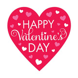 Happy Valentine's Day Heart Cutout Cardboard 39cm - Each