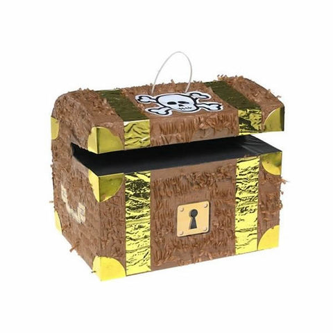 Pinata Pirate Chest 33xm x 28cm x23cm (Not suitable for Express Post due to size of product) - Each
