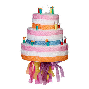 Pinata Birthday Cake 3 Layers & Candles (Not suitable for Express Post due to size of product) - Each