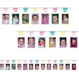 Minnie 1st Birthday Photo Garland Fun To Be One Cardboard 3.65m - Holds 13 Photos - A Great Way to Display your Baby's 1st Year - Each