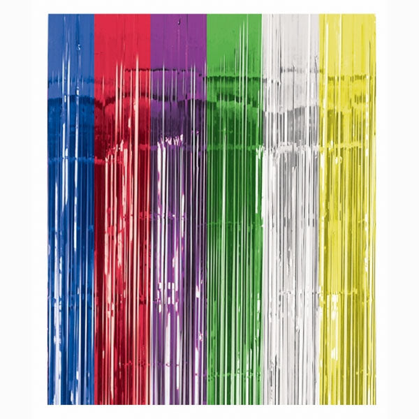 Metallic Curtain - Multi -Coloured (2.4m High  x 91.4cm Wide) - Each
