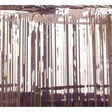 Metallic Curtain -Silver. (2.4m High  x 91.4cm Wide) - Each