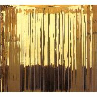 Metallic Curtain - Gold. (2.4m High  x 91.4cm Wide)   - Each