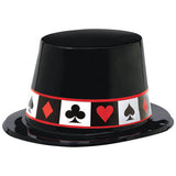 Place Your Bets Casino Top Hat Plastic (One size fits most) - Each