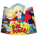 Super Hero Girls Tiaras Glittered Cardboard & Elastic Strap - Pack of 8
