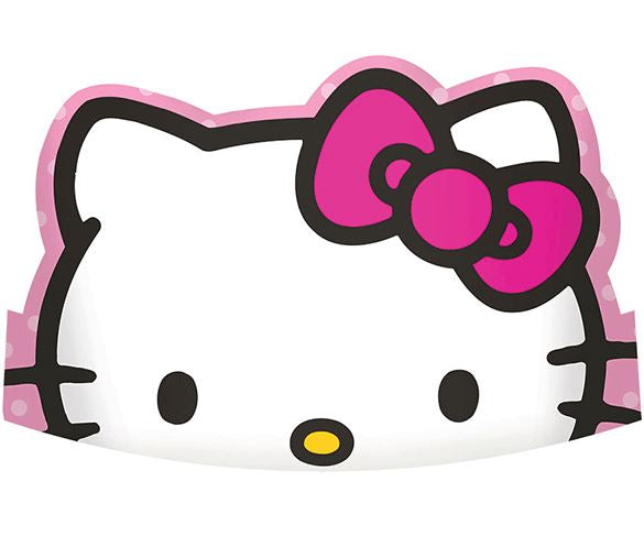 Hello Kitty Rainbow Tiara's Cardboard with Elastic Strap - Pack of 6