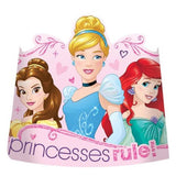 Princess Dream Big Tiara's Glittered & Elastic Strap - Pack of 8