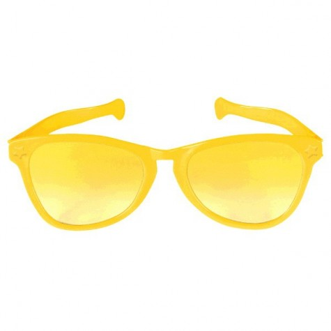Giant Sunglasses Yellow Plastic 25cm - Each
