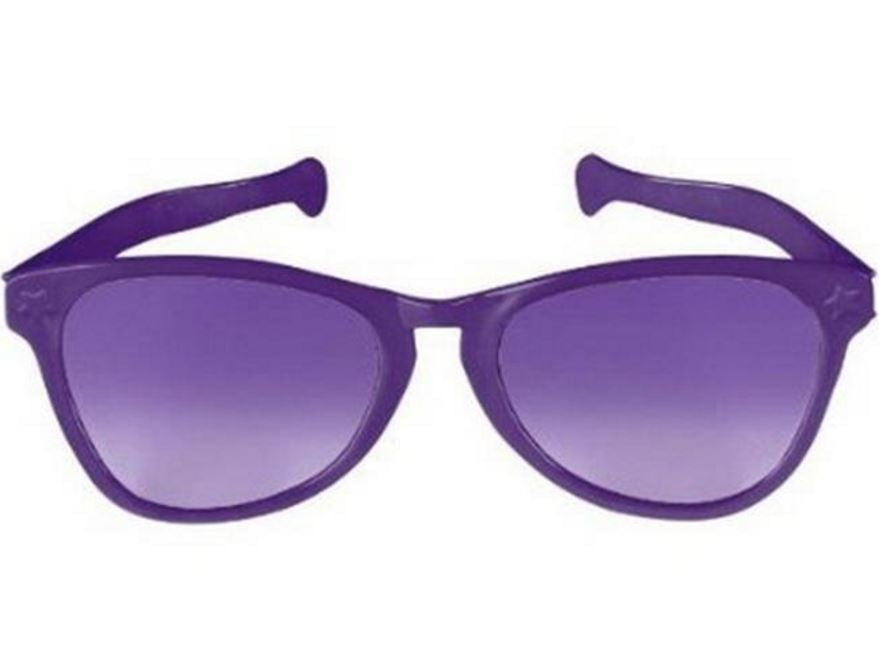 Giant Sunglasses Purple Plastic 25cm - Each