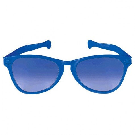 Giant Sunglasses Blue Plastic 25cm - Each