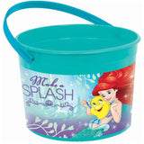 Ariel Dream Big Favor Container Little Mermaid & Handle 11.5cm x 15cm Dia Plastic - Each