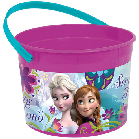 Frozen Favor Container & Handle 11.5cm High x 15cm Dia. Plastic - Each