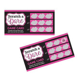 Game Team Bride Scratch a Dare Girl's Night Out  - Pack of 12