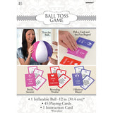 Game Bridal Shower Ball Toss 1 x Inflatable Ball 30cm, 45 Playing Cards & Instructions. - Each