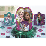 Frozen Table Decorating Kit (Contains 1 x 31cm Centrepiece, 2 x 15cm Centrepieces, 20 x 5cm Confetti Pieces) - Each