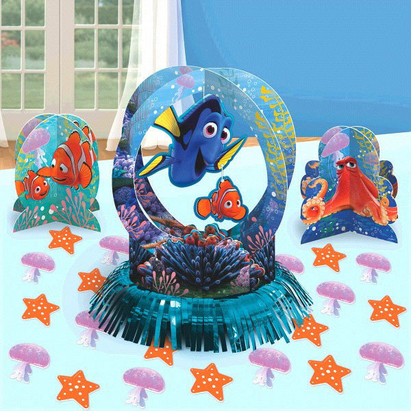 Finding Dory Table Decorating Kit (Contains 1 x 31cm Centrepiece, 2 x 18cm Centrepieces and 20 x 5cm Confetti Pieces) - Each