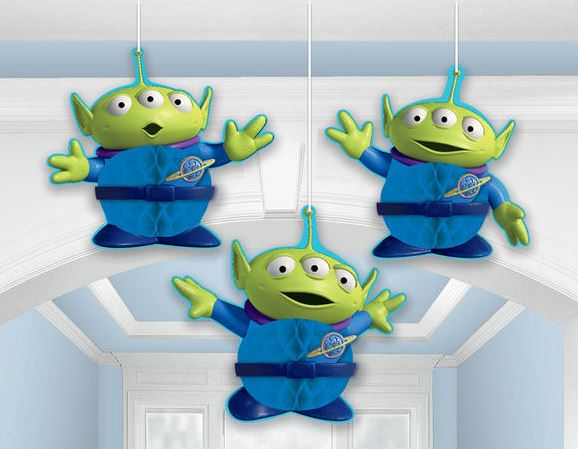 Toy Story Honeycomb Hanging Decorations 22cm (Supplied Flat with double sided Tape to Assemble) - Pack of 3