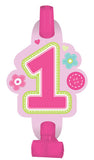 One Wild Girl Blowouts 1st Birthday & Medallions Assorted Designs Cardboard - Pack of 8