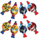 Transformers Blowouts with Medallions Assorted Designs - Cardboard - Pack of 8