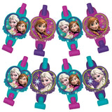 Frozen Blowouts with Medallions Assorted Designs - Cardboard - Pack of 8