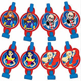 Super Hero Girls Blowouts with Medallions Assorted Designs - Cardboard - Pack of 8