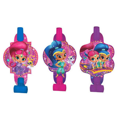 Shimmer & Shine Blowouts with Medallions Assorted Designs - Cardboard - Pack of 8
