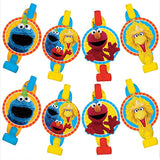 Sesame Street Blowouts Assorted Designs with Medallions - Cardboard - Pack of 8