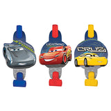 Cars 3 Blowouts with Medallions Assorted Designs - Cardboard - Pack of 8