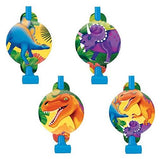 Prehistoric Dinosaurs Blowouts & Medallions Assorted Designs - Cardboard - Pack of 8