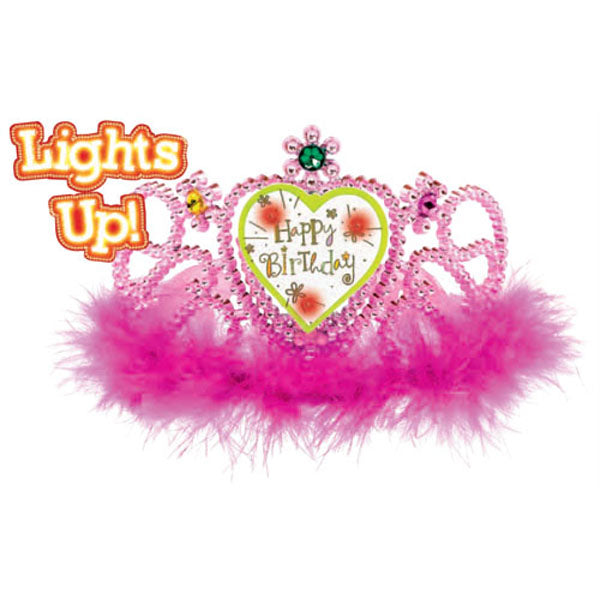 Light Up Happy Birthday Tiara Sweet Stuff Plastic - Each