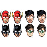 Justice League Masks Assorted Designs Cardboard - Pack of 8