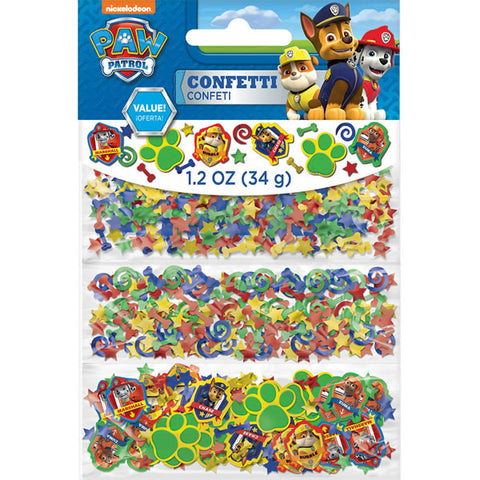 Paw Patrol Confetti Value Pack Assorted Foils & Cardboard (Choking Hazard, not suitable for children under 3) - 34 Grams